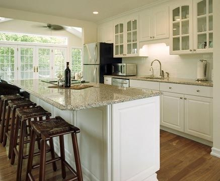 white kitchen cabinets with light countertops. white kitchen light wood floor  Google Search New