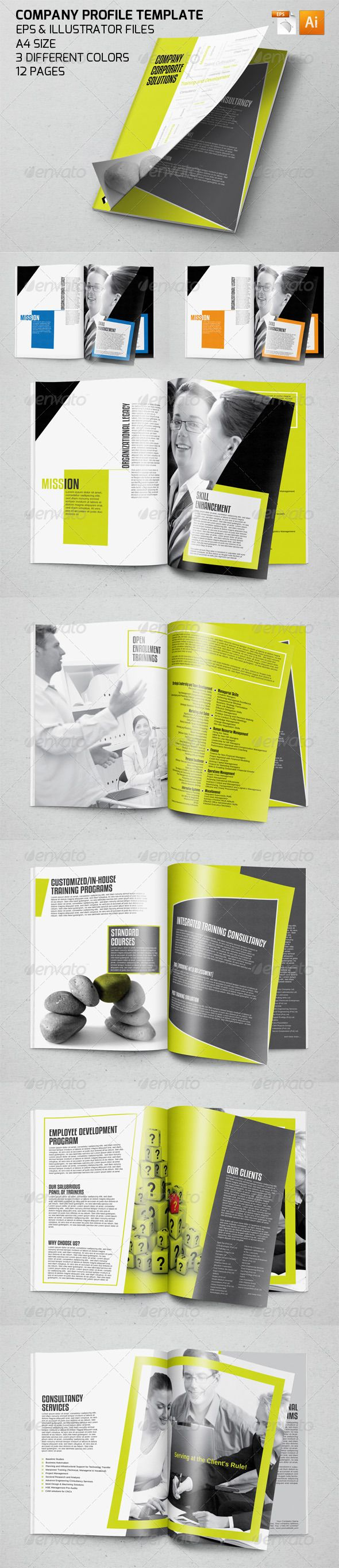 Professional Company Profile Template – Corporate Profile Template