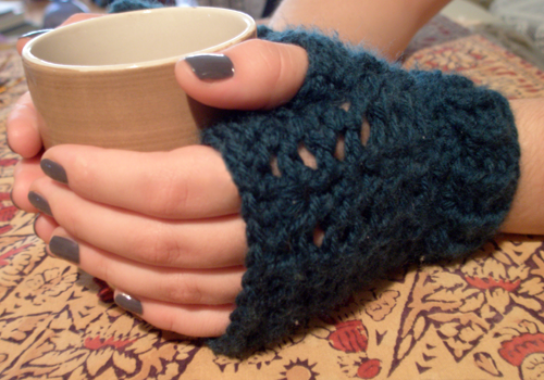 Crochet Fingerless Gloves Loved This Pattern But Did A Chainless