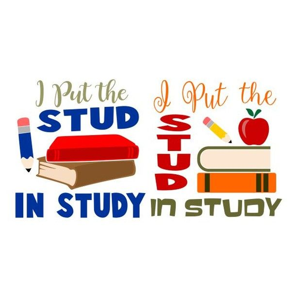"""Cuttable Designs SVG on Instagram: """"I Put the Stud in Study"""