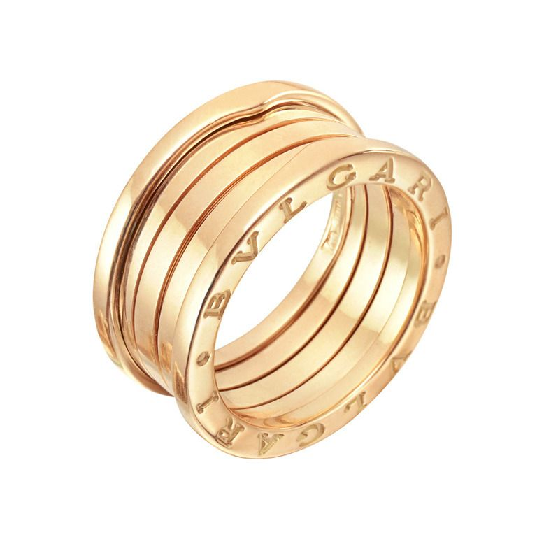 BULGARI B Zero1 Pink Gold 3 Band Ring
