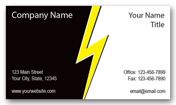 Electrical Company Lightning Business Card | Business cards and Logos