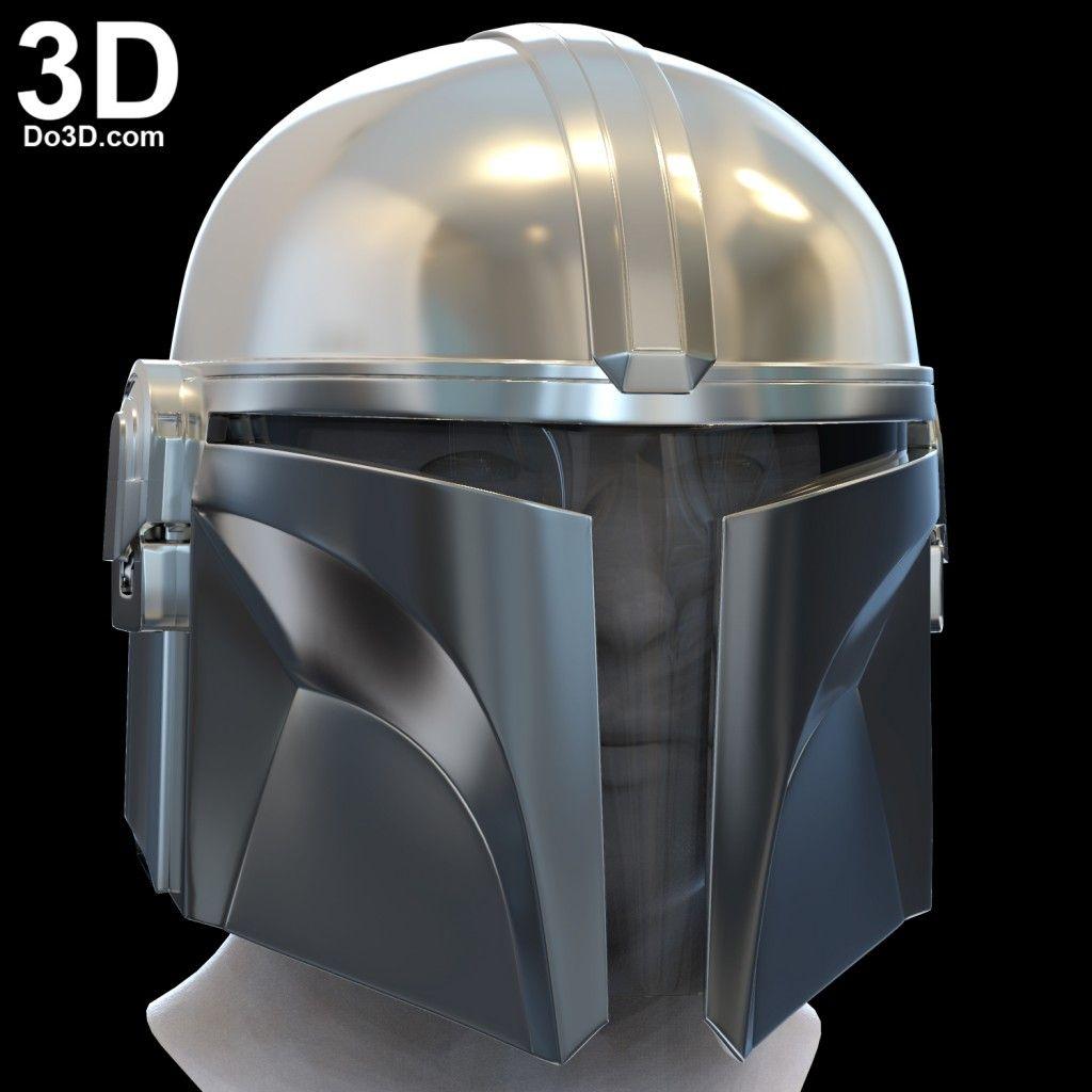 3D Printable Model Mandalorian D23 Helmet Print File