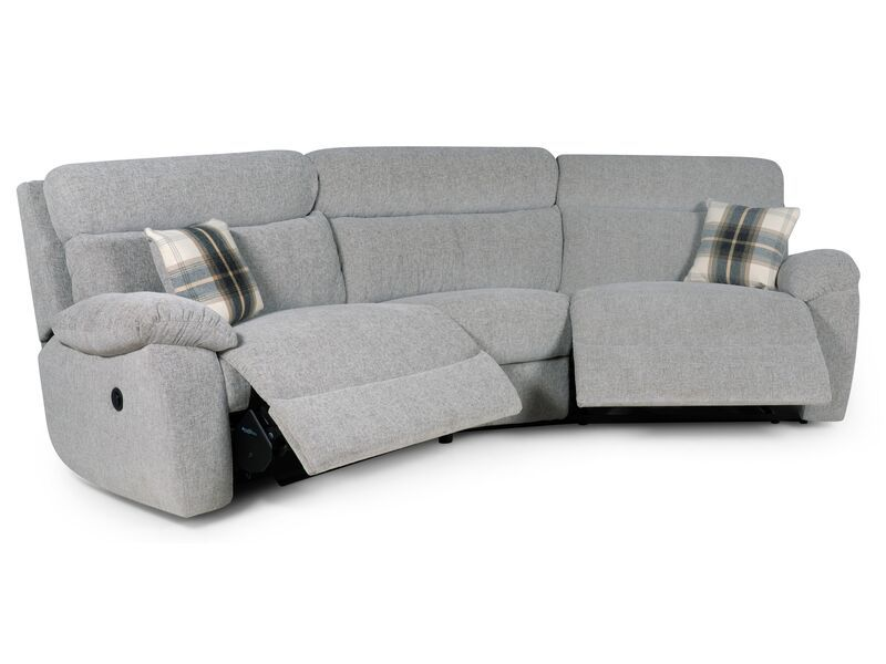 Cloud 4 Seater Curved Power Recliner Sofa Reclining Sofa