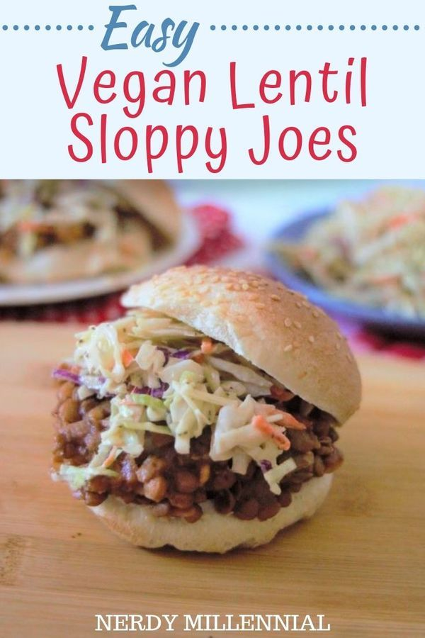 This Easy Vegan Lentil Sloppy Joes Recipe Makes A Quick And