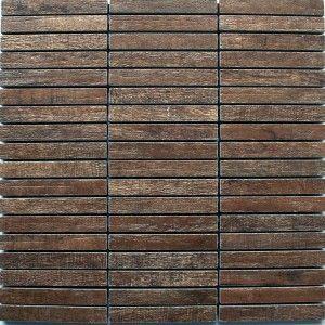 Amazing Mosaic Tiles Wood Optic Tilos Dark Brown