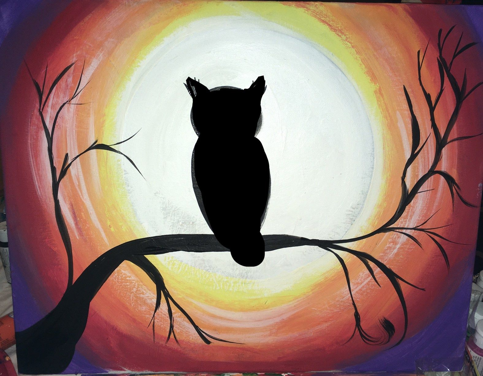 How To Paint An Owl Learn This Acrylic Canvas Painting