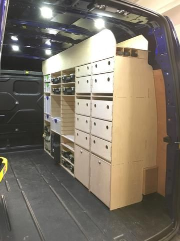 Transit Custom High Top Lwb Van Racking Transit Custom Van Storage