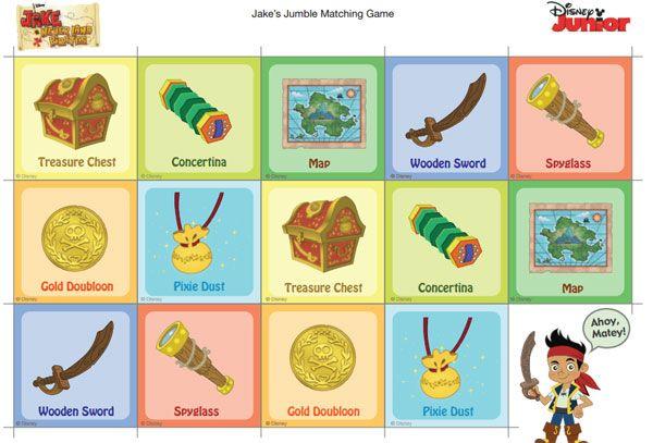 4 Juegos De Memoria Para Imprimir Gratis Pequeocio Juegos De Memoria Tarjetas Del Cuaderno De Notas Imágenes De Piratas