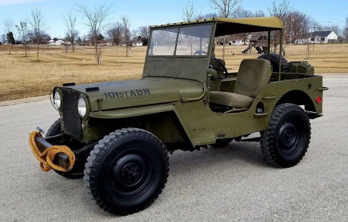 1948 Jeep Willys Cj2a 101st Airborne Military Paint Willys Jeep