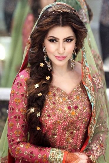 Elegant ... Indian Wedding Hairstyles For Long Hair Pinteres ...