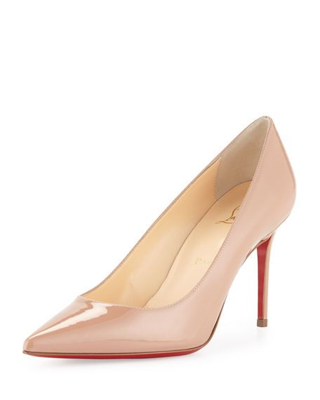 6d7a2f5d265 Decollete 85mm Patent Leather Red Sole Pump in 2019 | Exquisite ...