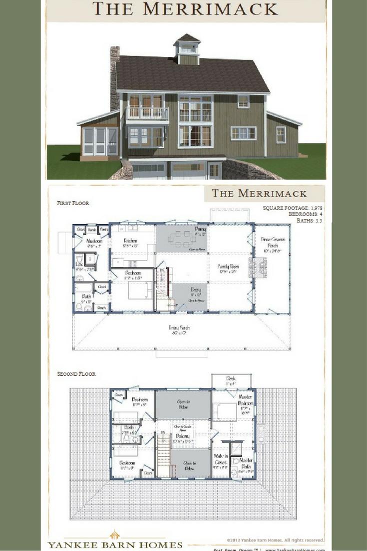 Merrimack Barn House Plans Barn House Design Barn Style House Plans