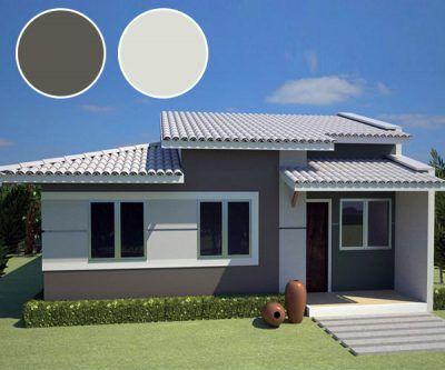 Casas de un piso modernas gris decoraci n de la casa en for Programa diseno exteriores