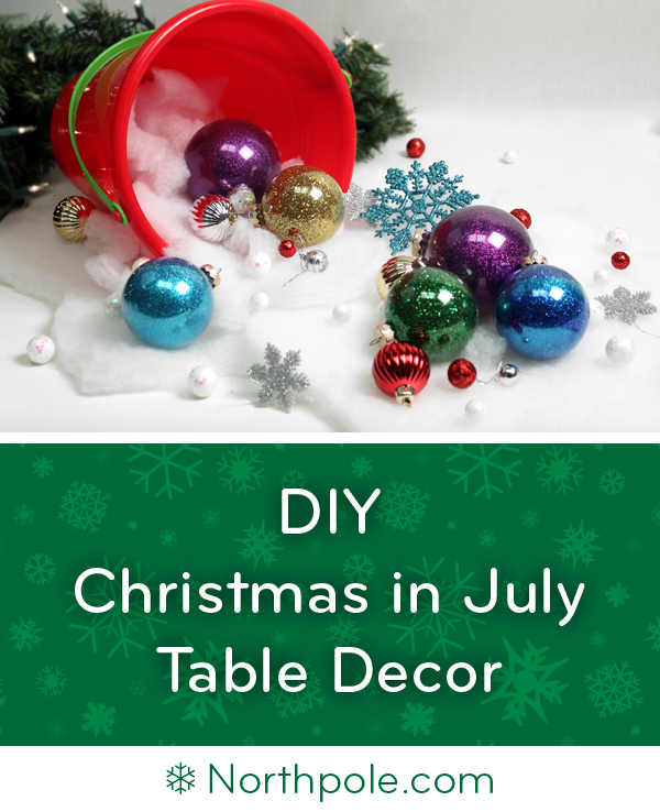 Make this Arctic Beach Centerpiece for Christmas in July! • Northpole.com Craft Cottage #holidaysinjuly
