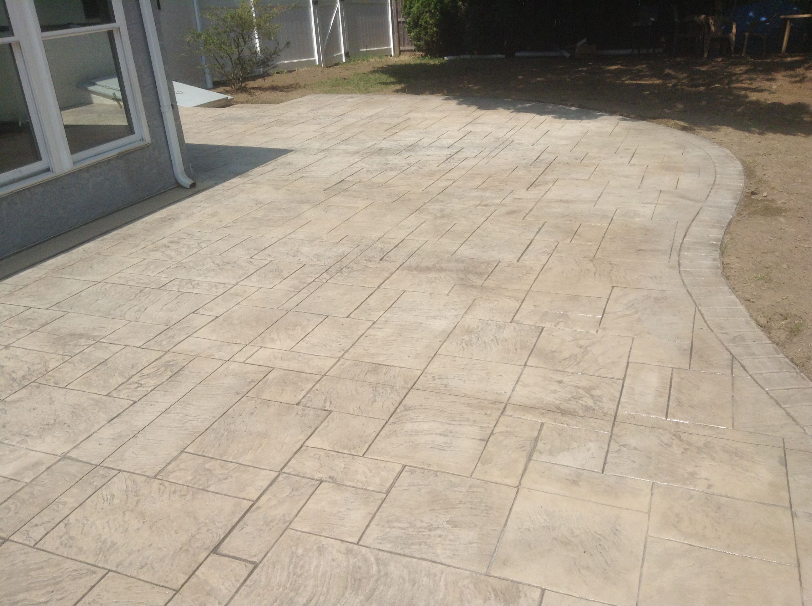 Image result for stamped concrete pool deck images