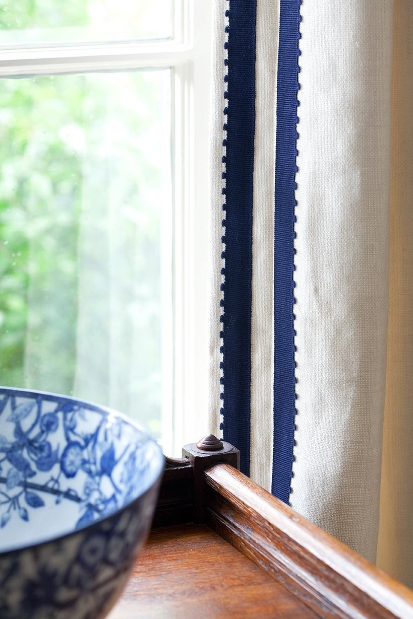 Ribbon Trim Curtains Opposite Facing Ribbon Detail Adds Instant Style To Neutral Panels