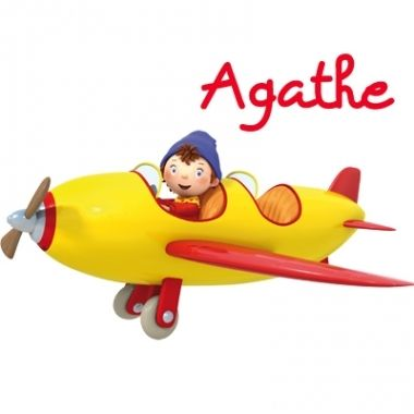 Sticker oui oui en avion stickers enfants toys rubber - Avion oui oui ...