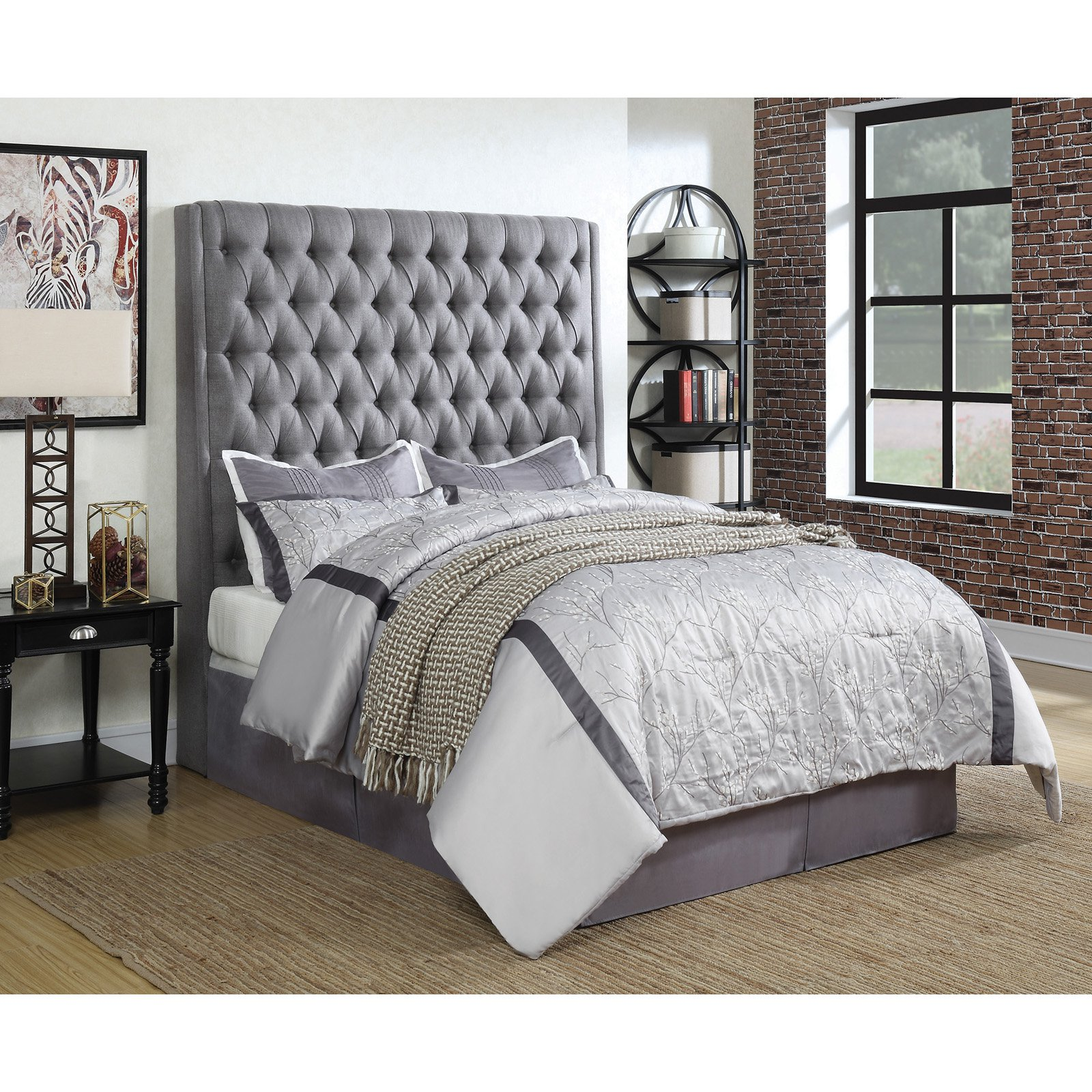 Best Coaster Furniture Camille Upholstered Headboard Queen 400 x 300