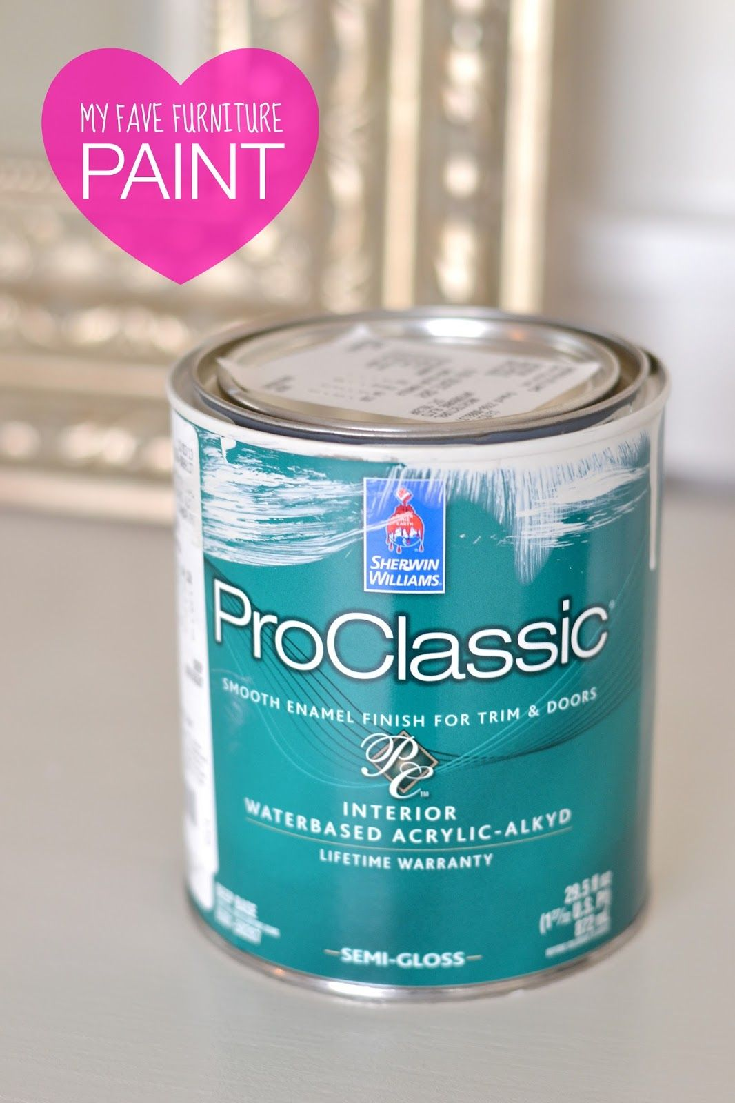 My Secret Weapon When It Comes To Painting Furniture Like A Pro! Shermin  Williams Proclassic Smooth Enamel Finish (waterbased Acrylic)