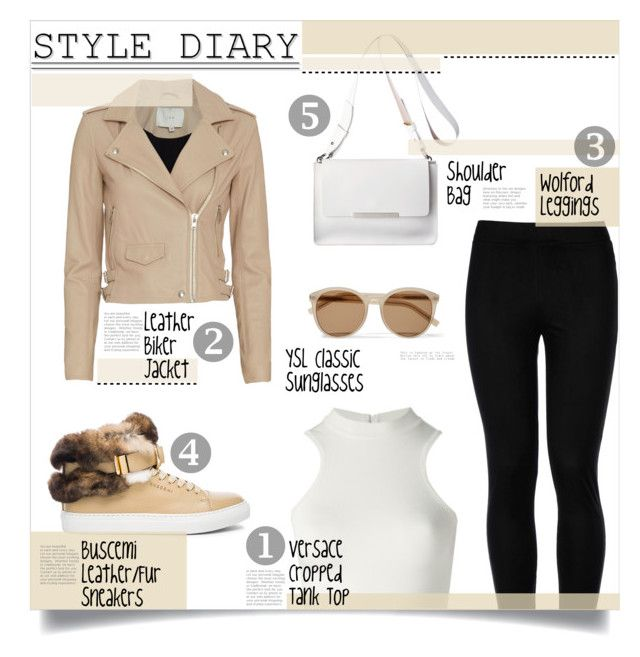 """""""Style Diary 25"""" by hetleven ❤ liked on Polyvore featuring BUSCEMI, Wolford, Versace, IRO and Yves Saint Laurent"""