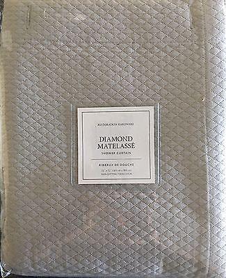 Restoration Hardware Diamond Matelasse Shower Curtain Color Mist