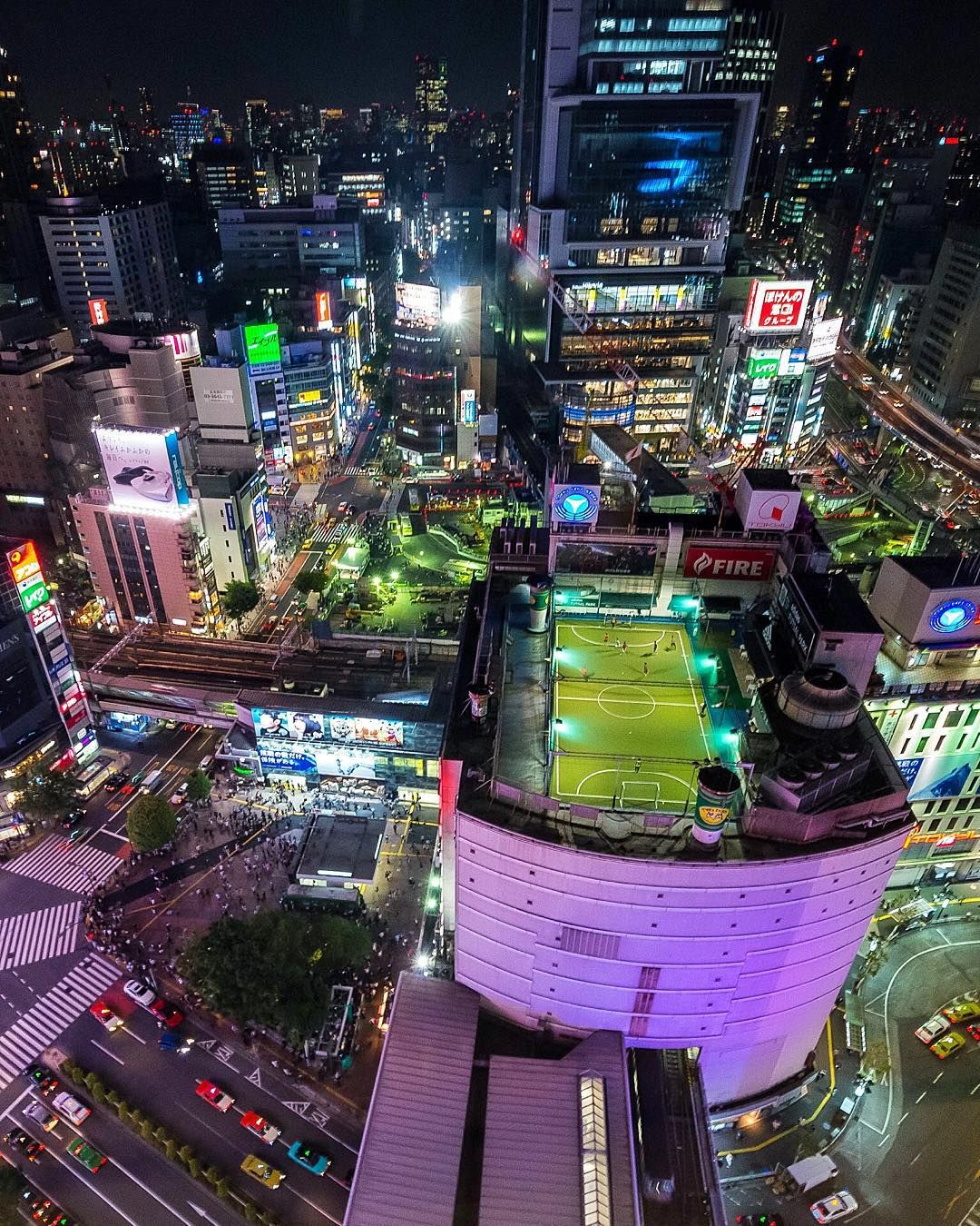 """""""Who wants to play soccer on a rooftop ⚽️ Shibuya by"""