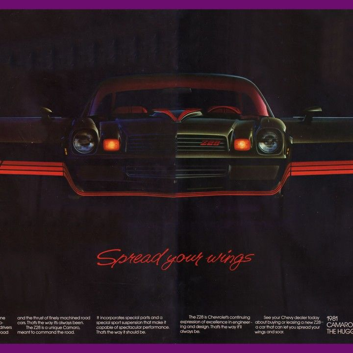 1981 Chevrolet Camaro Z28 Spread Your WIngs Vintage Ad from