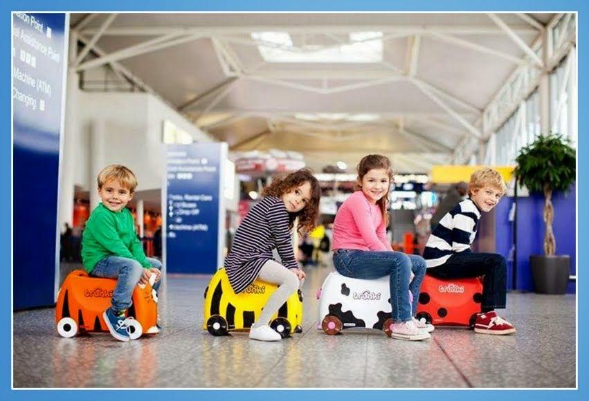 Con las maletas Trunki se pueden hacer hasta carreras