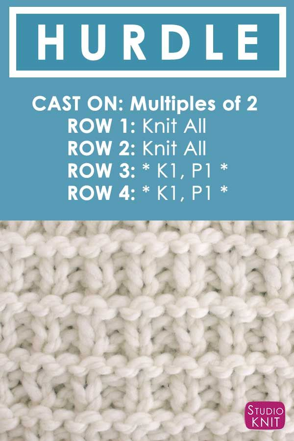 How to Knit the Hurdle Stitch with Studio Knit. | Sockenmuster ...