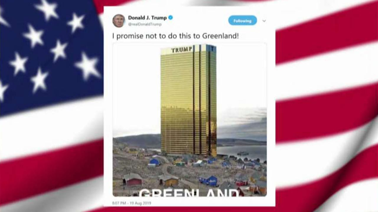 Fox News President Trump Tweets Image Of New Trump Tower On The Shores Of Greenland World Trending News Trump Tower Trump