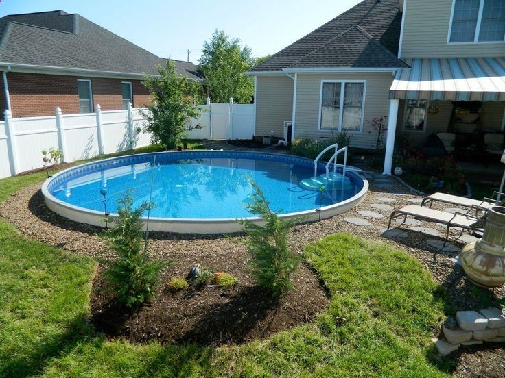 Above ground pool in the ground its a green life pool - Semi above ground pool ideas ...