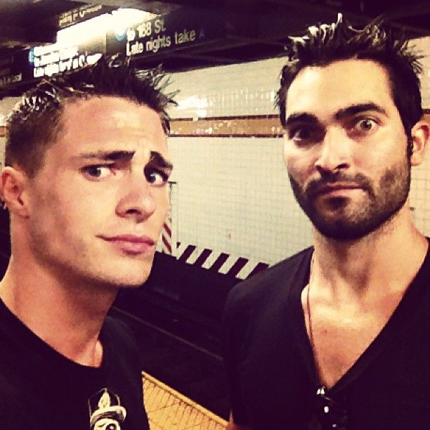 Photo by tylerl_hoechlin (It rains in NYC, until you buy an umbrella I guess.. New York days with @Colton Haynes)