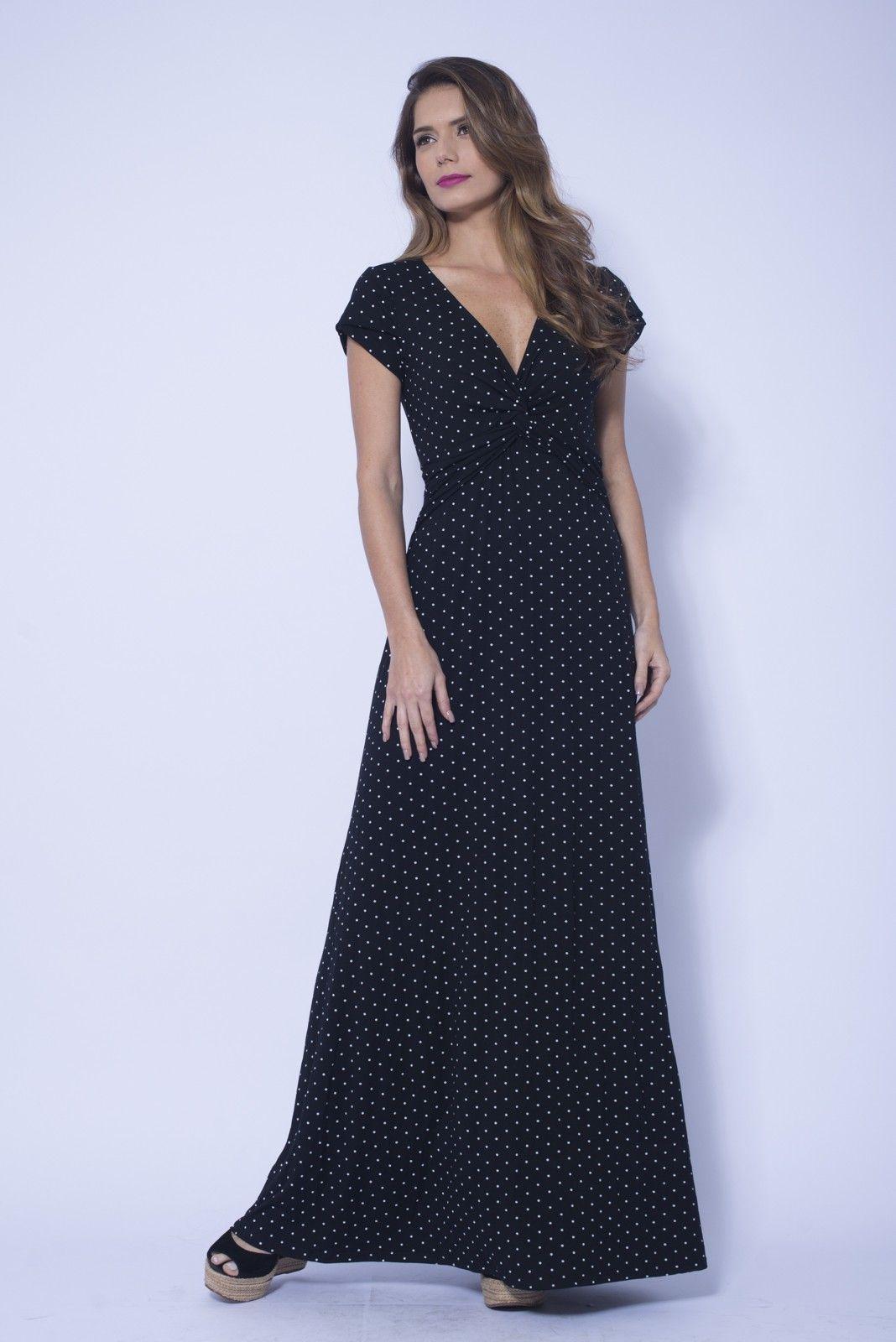 Vestido longo estampa mexican trip dress to