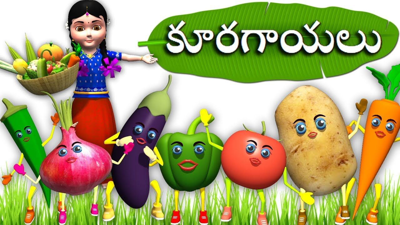 Learn Telugu Kuragayalu And Pandlu Fruits And Vegetables Teluge