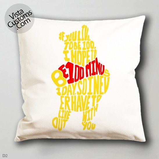 pooh quotes pillow case, cover ( 1 or 2 Side Print With Size 16, 18, 20, 26, 30, 36 inch )
