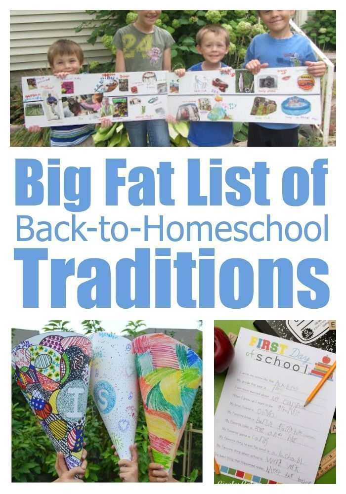 Photo of Big Fat List of Back-to-Homeschool Traditions