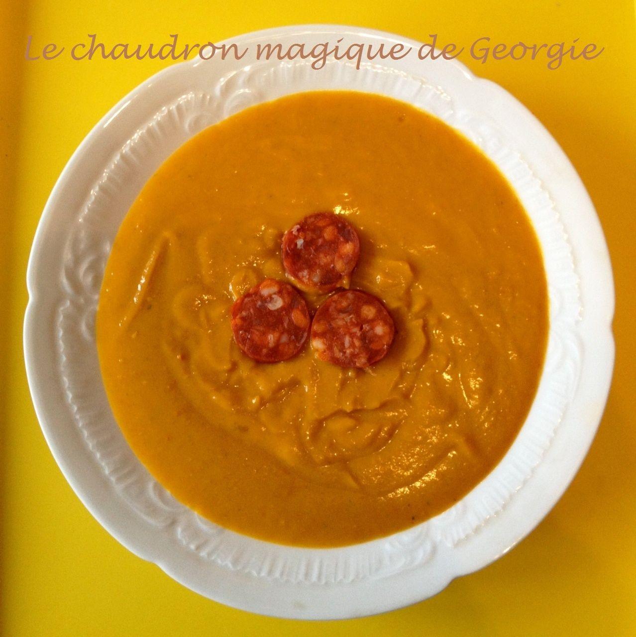 Velout de potimarron au chorizo ww au thermomix weight watcher soupes recette et velout - Cuisine legere thermomix ...