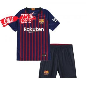 bfdffe04376 2018-19 Cheap Youth Kit Barcelona Home Replica Blue Suit  CFC131 ...