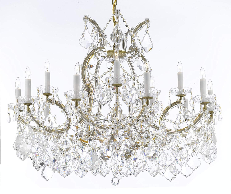 Swarovski Crystal Trimmed Maria Theresa Chandelier Crystal
