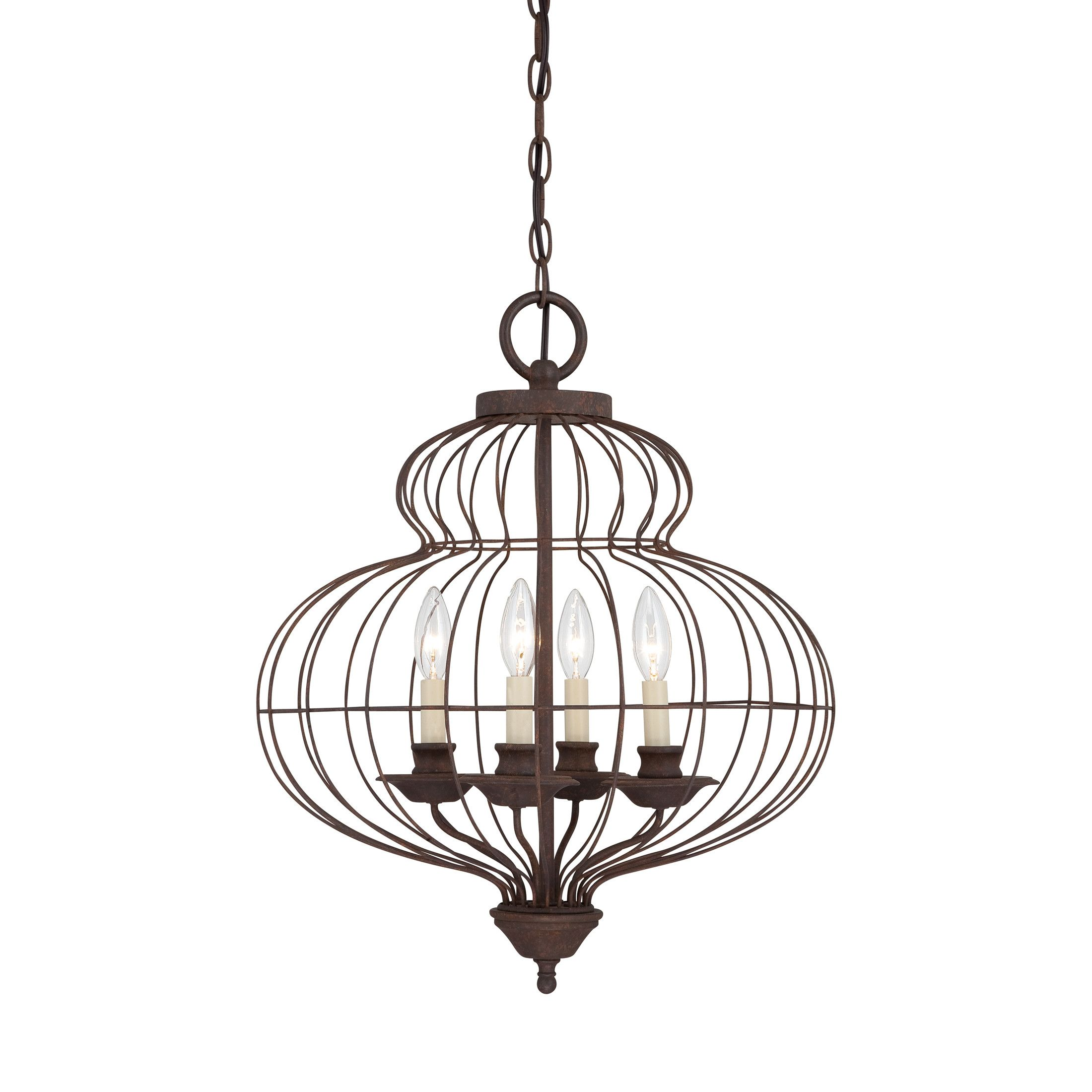 Quoizel Laila 4 Light Candle Style Chandelier Entry
