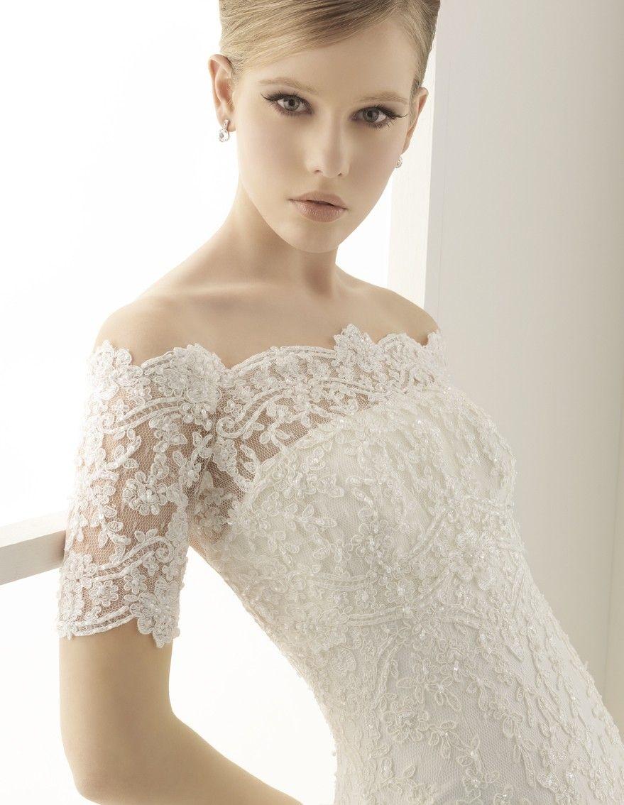 Elegant wedding dresses for mature brides  silver wedding dresses for older brides  Alma Novia  Wedding