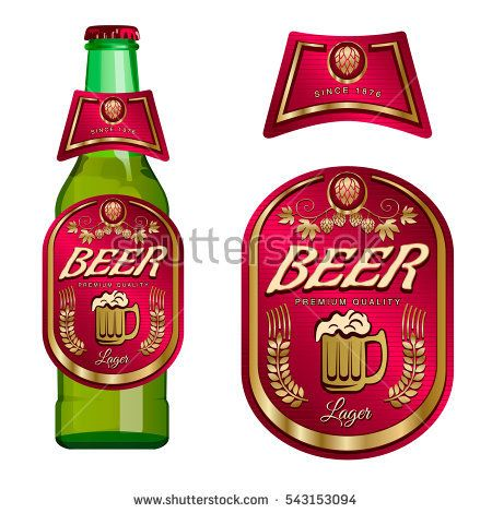 Beer Label Template With Neck Label Vector Illustration Beer
