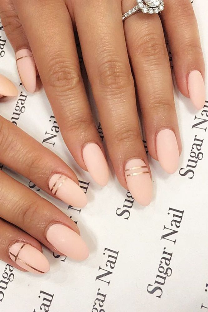 30 Cute Nail Design Ideas For Stylish Brides Nail Candy Amazing