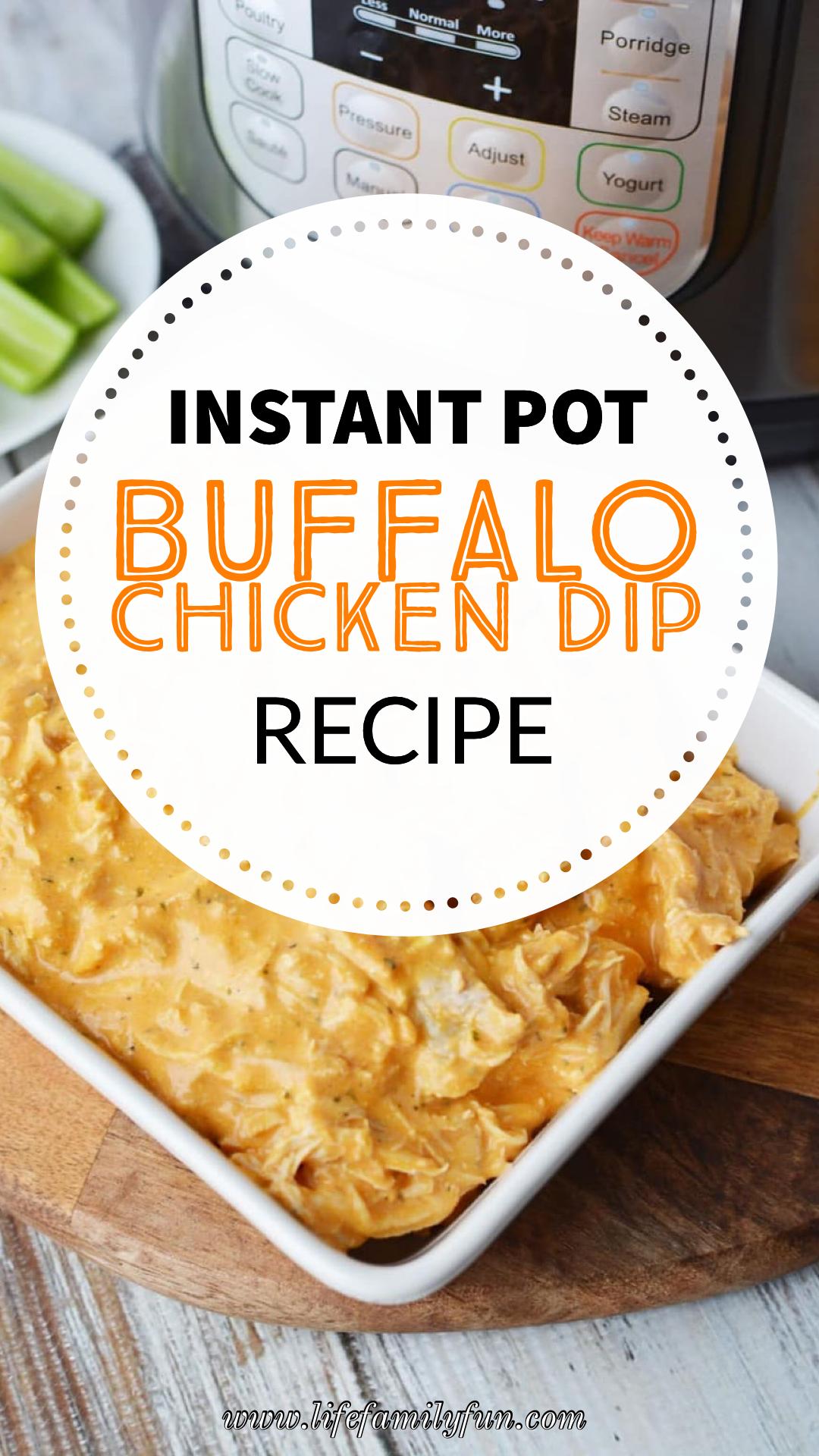Instant Pot Buffalo Chicken Dip #footballpartyfood