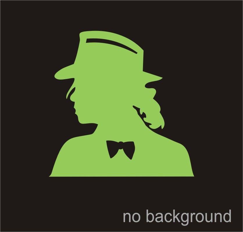 Michael Jackson Silhouette Green Vinyl Decal Sticker Car