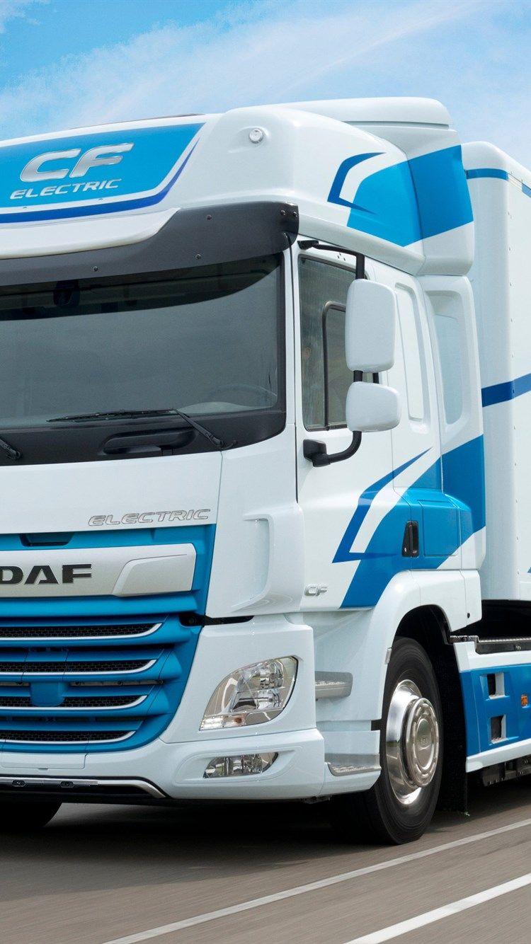 DAF CF Eléctrico, 4k, carretera, 2018 camión, LKW, Eléctrico truck ...