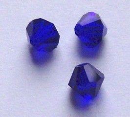 Swarovski crystal bicone beads 4mm COBALT blue style 5301 Rare beads 48 pieces per lot