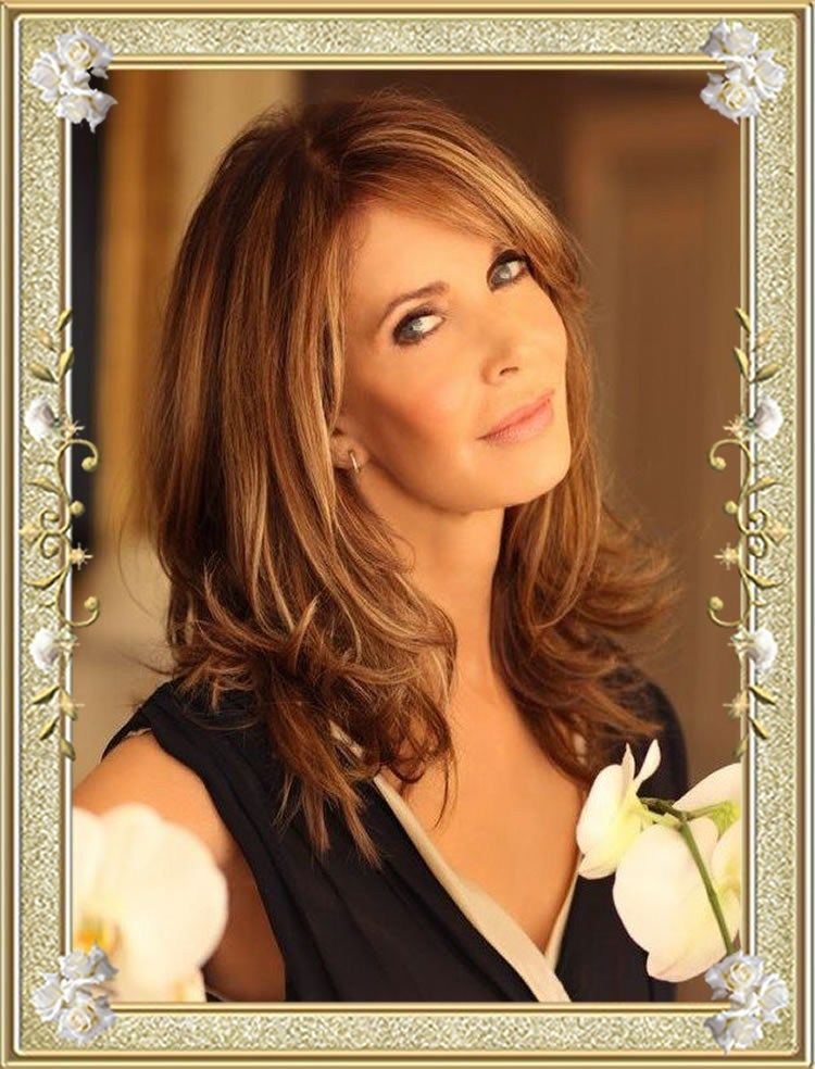 16 Glamorous Long Layered Haircuts for Women Over 50 ...