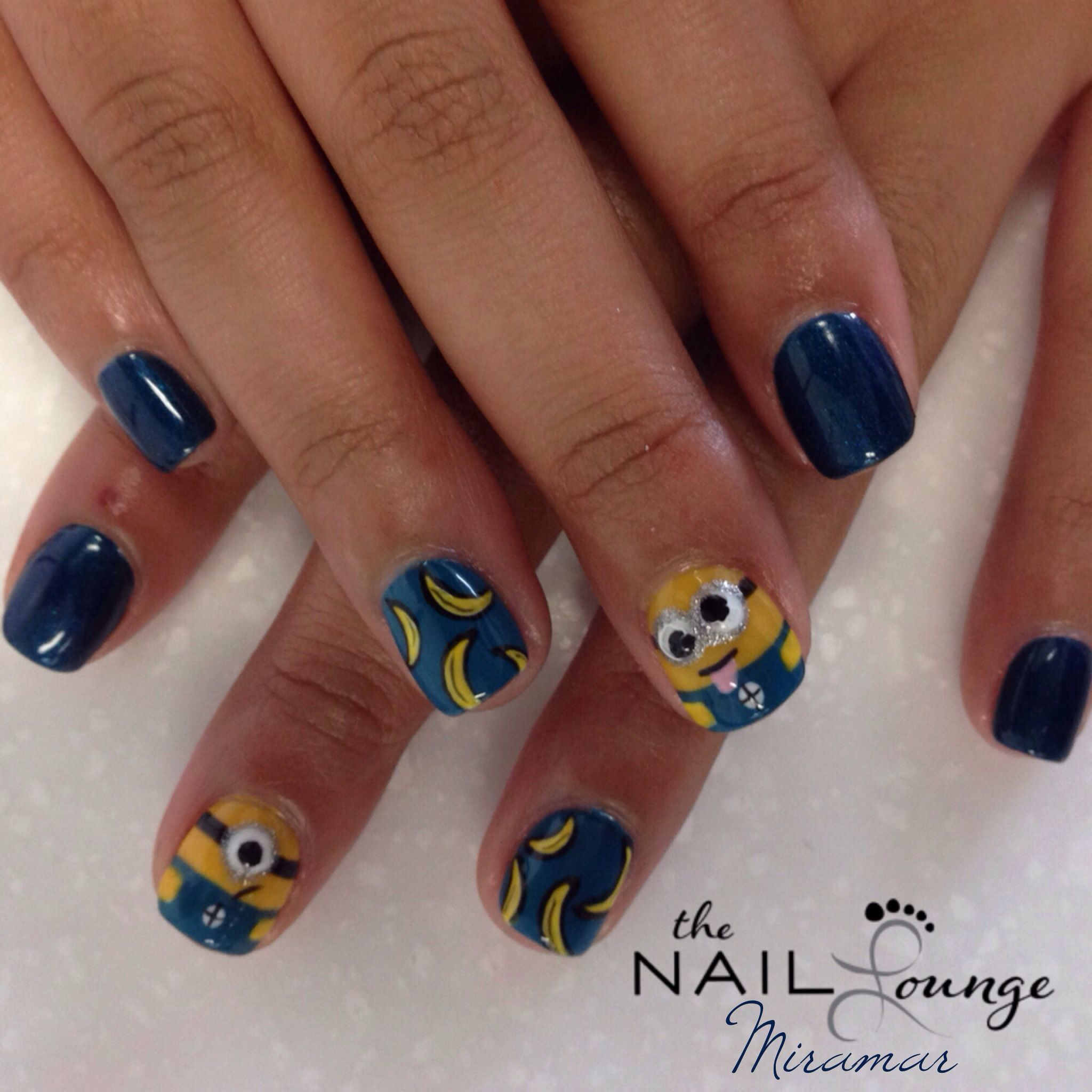 Minions gel nail art (kids nail) @the_nail _lounge_miramar | Nail ...